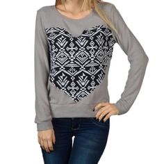 Big heart top ❤️ Beautiful as pictured along with great Fit and comfortable . Also available in other color . Tops Sweatshirts & Hoodies