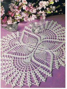 Crochet Doilies - Free Crochet Pattern - Oval Lace Doilies (My grandmother could knit, crochet, and tat, which is something I'd really like to learn! Crochet Table Runner Pattern, Free Crochet Doily Patterns, Crochet Doily Diagram, Crochet Tablecloth, Crochet Art, Thread Crochet, Filet Crochet, Crochet Motif, Crochet Crafts