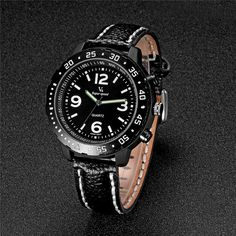 2017 V6 Brand Men Watch Luxury Casual Watches Men Analog Military Sports Watch Quartz Leather Male Wristwatch Relogio Masculino