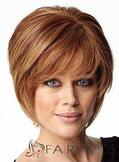 100% Human Hair Blonde Capless Straight Short Wigs 10 Inch