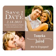 Custom Save the Date Magnets Can do Outdoor Weddings Theme in Modern. $1.00, via Etsy.