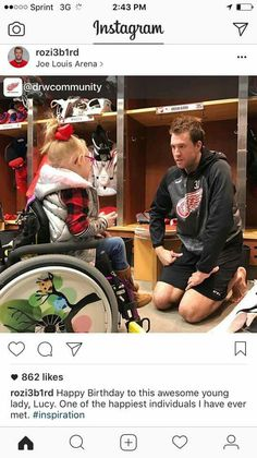 Happy Birthday to this awesome young lady, Lucy. One of the happiest individuals I have ever met. Joe Louis Arena, Red Wings Hockey, Detroit Red Wings, Big Family, Young Women, Baby Strollers, Happy Birthday, Community, Photo And Video