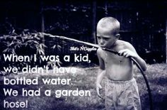yup. and we never got sick from drinking from it either. nothing better than fresh-from-the-hose water on a hot day!