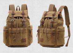 BONCANTA.COM - Tarz Sahibi, Dizayn Harikası, Premium Kalitede Çantalar ~ KAUKKO AUGUR el yapımı kanvas sırt çantası (SB978)