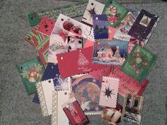 Karneciki do prezentów...wykorzystałam stare kartki świąteczne, opakowania po bombonierkach, chusteczkach itp. :-)