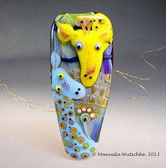 Story Teller   Handmade Lampwork Animal Bead by ManuelasGlassArt, $165.00