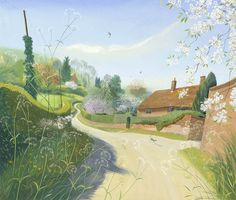 Nicholas Hely Hutchinson (b.1955) — Spring Morning, Wimborne St. Giles (800x681)