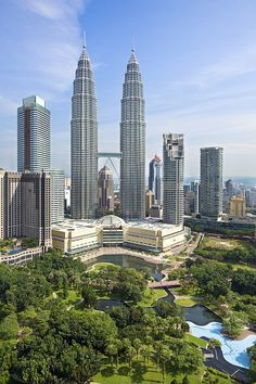 Petronas Twin Towers  Kuala Lumpur, Malaysia    The Petronas Towers are twin skyscrapers in Kuala Lumpur, Malaysia. According to the CTBUH's official definition and ranking, they were the tallest buildings in the world from 1998 to 2004