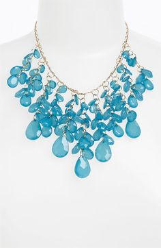 Teardrop Cluster Statement Necklace