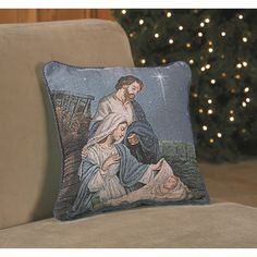 Holy Family Tapestry Pillow, $19.95.