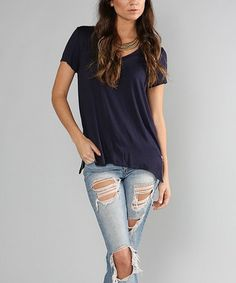 This Navy Zip Line Tee is perfect! #zulilyfinds