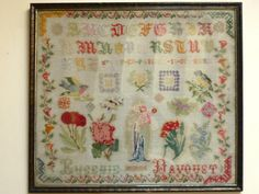 An Early 20th Century FRENCH Sampler Stitched By Eugénie Davoust  & Dated 1900