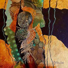 """CAROL NELSON FINE ART BLOG-Abstract Mixed Media Art Painting """"Kim's Run"""" by Colorado Mixed Media Abstract Artist Carol Nelson"""