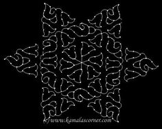 kolam with dots Indian Rangoli Designs, Rangoli Designs Flower, Rangoli Patterns, Rangoli Designs With Dots, Flower Rangoli, Rangoli With Dots, Beautiful Rangoli Designs, Kolam Designs, Simple Rangoli