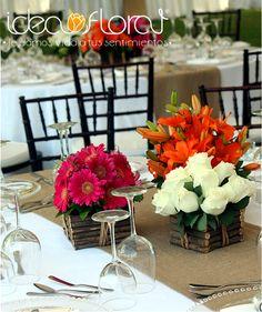 Centros de mesa - Flores para boda, ramos de novia, decoración de iglesia - Idea Floral Puebla