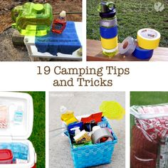 19 Cool Camping Tricks by Katie-HowDoesShe. While we aren't huge campers in this house, we do have one campout planned this summer. Because of this, we've rounded up some cool camping tricks and tips and we wanted to share them with all of you! Camping Hacks, Solo Camping, Camping Supplies, Camping Checklist, Camping World, Camping Essentials, Camping Meals, Tent Camping, Campsite