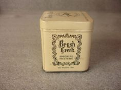 OLD VTG Brush Creek Smoking Mixture Fine Tobacco 1 OZ TIN Container USA | eBay