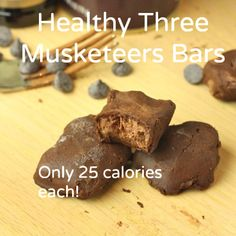 Healthy Three Musketeers- only 25 calories each!