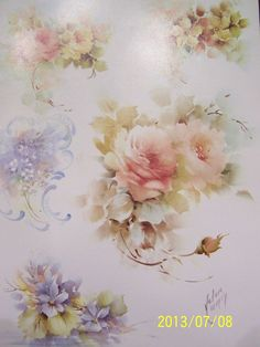 """China painting study #67 """"florals"""" helen humes 3 pages"""