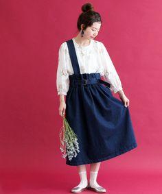 AMBIDEX Store 【 予約販売 】◎○cdc ◇デニムかたっぽ吊りスカート◇(F コン): chambre de charme
