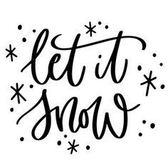 Silhouette Design Store: let it snow, christmas phrase
