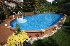 Semi in-ground pool