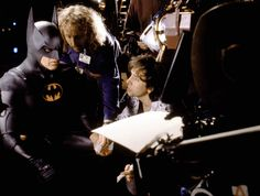 On the set tim Burton's Batman (1989)