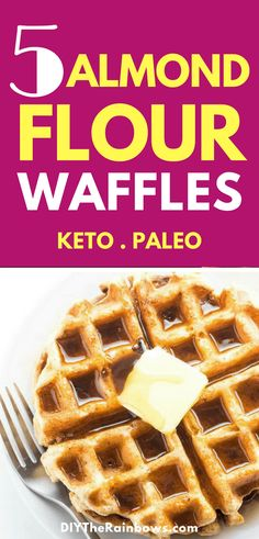 When I got into the keto diet, I was so frustrated because I thought I couldn't have any of my favorite food again, namely waffles! So I have collected 5 best keto paleo almond flour recipes for a breakfast! Keto Foods, Keto Snacks, Snack Recipes, Almond Flour Waffles, Almond Flour Recipes, Paleo Dessert, Low Carb Desserts, Low Carb Recipes, Carb Free