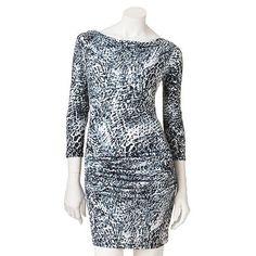 Jennifer Lopez Snakeskin Drapeneck Dress $36.00