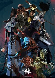 Killers Dead By Daylight Horror Icons, Horror Art, Horror Movies, Space Anime, Horror Drawing, Horror Video Games, Ghost Faces, Joker Art, Dead Space