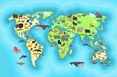 Buy Animals World Map Wallpaper Design by ssstocker on GraphicRiver. Animals world map for kids wallpaper design. World Map Wallpaper, Kids Wallpaper, Desert Design, Maps For Kids, Conceptual Design, Abstract Photos, Designer Wallpaper, Design Bundles, Design Art