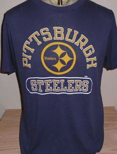 ffe4b4345 Vintage 1980s Pittsburgh Stelers Champion t shirt 50 50 thin by  vintagerhino247 on Etsy Pittsburgh