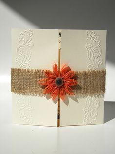 Autumn wedding invitation / Burlap wedding by ancamilchis on Etsy, $2.80