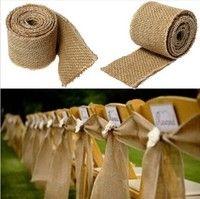 Wish | 300x6cm Natural Vintage Jute Hessian Burlap Ribbon Rustic Weddings Belt Strap Floristry 300CM