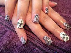 Nails! Crosses and swirls