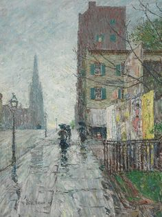 Childe Hassam (American, 1859-1935), Rainy Day, 1890s. Oil on canvas, 24¼ x 18¼ in.