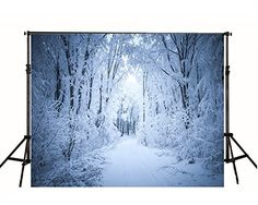 White Accumulated Snow covered Road Photography Backdrop no Crease Photo Studio Background Photography Studio Background, Road Photography, Winter Photography, Product Photography, Digital Photography, Christmas Photography Backdrops, Christmas Backdrops, Snow Forest, Forest Road