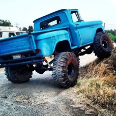 Really , this is all I want . I don't need a new truck . Lifted, classic Chevy pickup truck, mudding, off-road, rock crawling