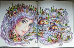 My Mermaid  #hannakarlzon #dagdrömmar #dagdrömmarhannakarlzon #dagdrommar #dagdrømmer #hannakarlzonsommarnatt #sommarnatt #colouring #colors #jardimsecretotop #jardimsecreto #lostocean #drawing #adultcoloringbook #animals #animal #adult #colouring #coloringbook #creative #antistress #antistresoveomalovanky #omalovankyprodospele
