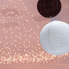 Paper Lanterns and twinkle lights