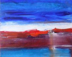 """Saatchi Art Artist Twyla Gettert; Painting, """"Sunset Ocean Blue"""" #art"""