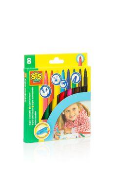 Set special pentru desen cu 8 carioci pentru copii cu varsta intre 4-6 ani
