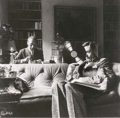 Pavel Tchelitchew and Peter Watson in Watson's home, London, 1930