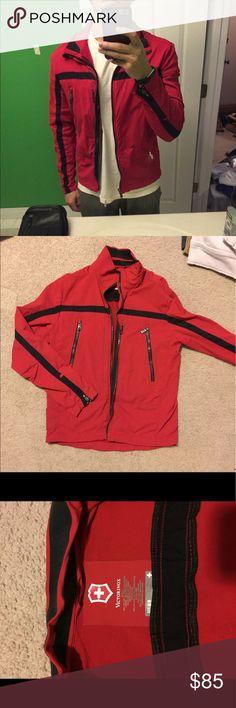 Victorniox shell jacket Rain proof jacket. Fits short and snug. 3 outside zippered pockets. 1 inside pocket. Adjustable zippered sleeves. High quality Victorinox Jackets & Coats Lightweight & Shirt Jackets