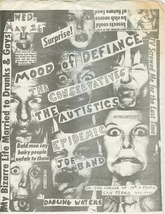 Mood of Defiance Flyer - the Conservatives - the Autistics - Epidemic - Joe Band at Dancing Waters - PUNK - Hardcore - San Pedro   #easter #easterband #1980spunk #punkflyer #southbaypunk #punkpioneer #anti #antiband #hardcoreppunk #dannydean #dannydeanphillips #dannyphillips #newundergroundrecords #moodofdefiance www.dannydean.com #rockabilly #dannydeanandthehomewreckers #rockabillyband #swingrevial #neorockabilly