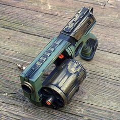 Steampunk Nerf Gun Green and Gold Pirate Time от HGBrasswell