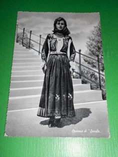 Cartolina Costumi Sardi - Sarule ( Nuoro ) 1954