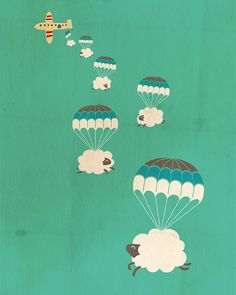 sheepy clouds image by i love doodle Sheep Illustration, Love Doodles, Cloud Art, Ideias Diy, Illustrations Posters, Art For Kids, Pop Art, Whimsical, Sketches