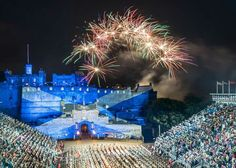 Edinburgh Military Tattoo held each August in Edinburgh Castle, Scotland