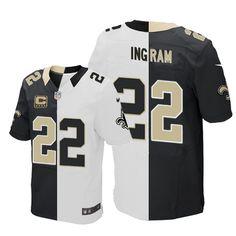 Mens Elite Mark Ingram Jersey Nike New Orleans Saints  22 Team Road Two  Tone NFL 19620b373